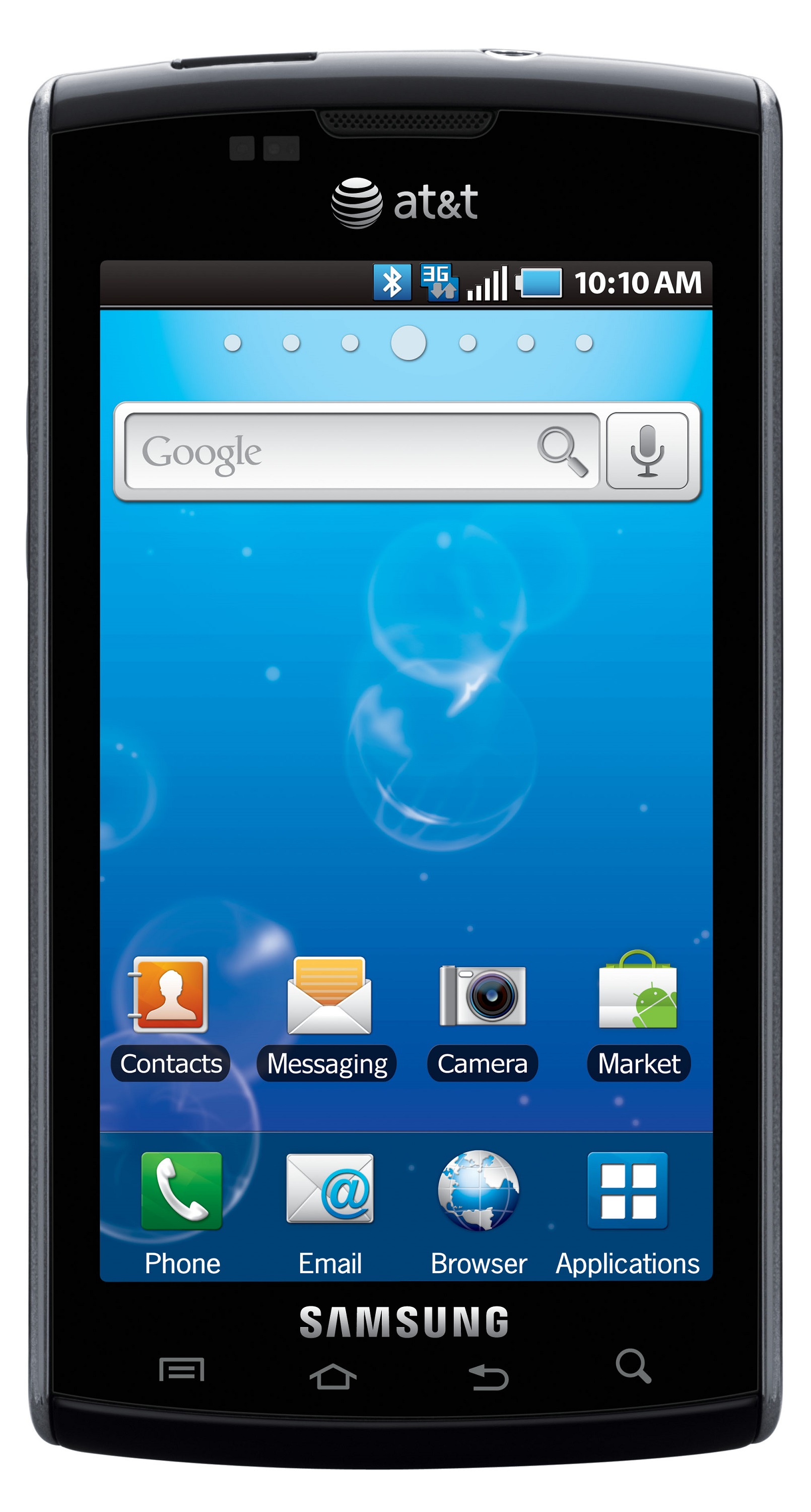 Samsung Galaxy s Captivate i897 Unlocked GSM Android Cell Phone Black